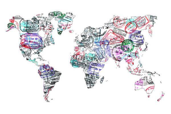 ビザと世界地図
